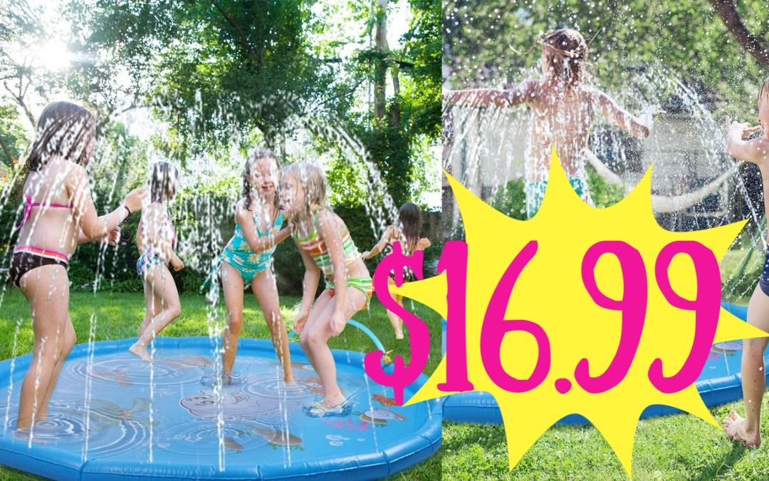 Sprinkler for Kids 67'' Splash Pad Water Sprinkler Toys Wading Pool for Kids Toddlers Sprinkler Water Playmat for Summer Outdoor Backyard