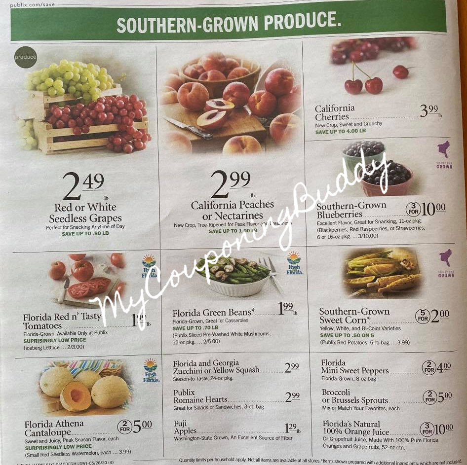 5/27/20 - 6/2/20 (or 5/28-6/3/20 for Some) Publix Couponing