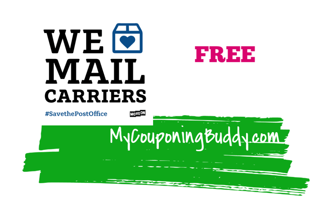 FREE We Love Mail Carriers Sticker