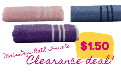 HOT Clearance deal on Mainstays Bath Towels at Walmart