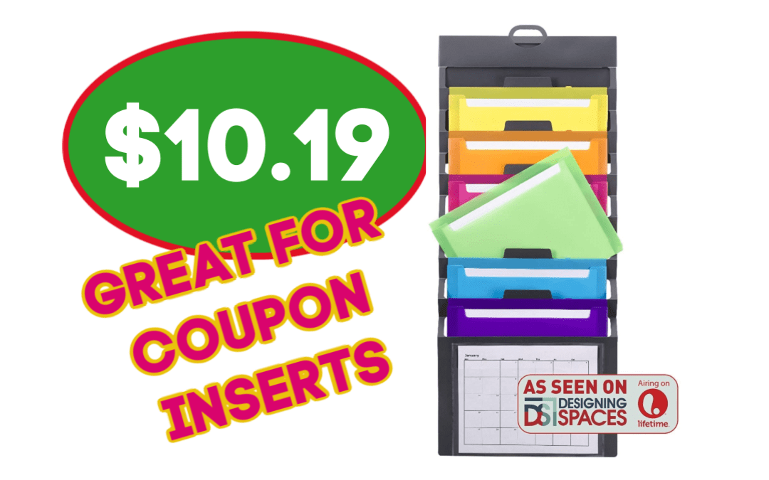 Great New Sleek Hanging Wall Orgainizer – Would be great for coupon inserts!