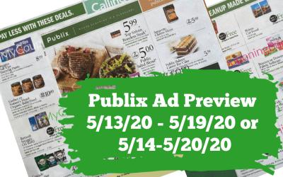 Publix Ad Preview 5/13/20 – 5/19/20 or 5/14-5/20/20