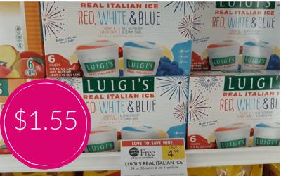 Luigi's Italian Ice $1.55 at Publix