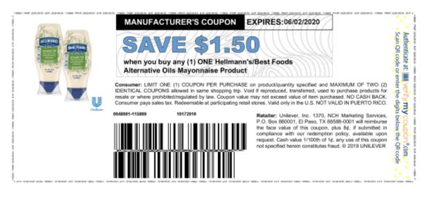 Hellmans printable coupon