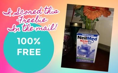 FREE Sinus Rinse Kit or NasaFlo Neti Pot!