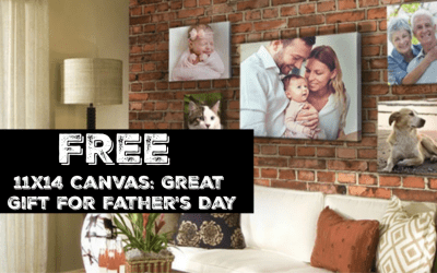 FREE 11×14 Canvas: Great Gift for Father's Day