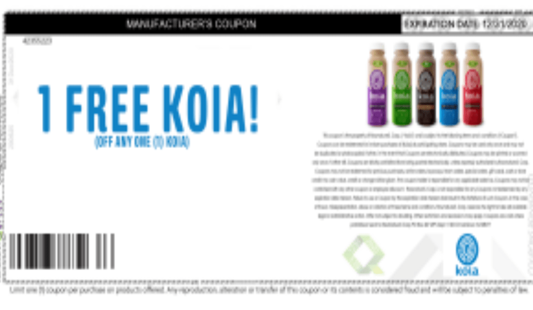 Free Koia Drink