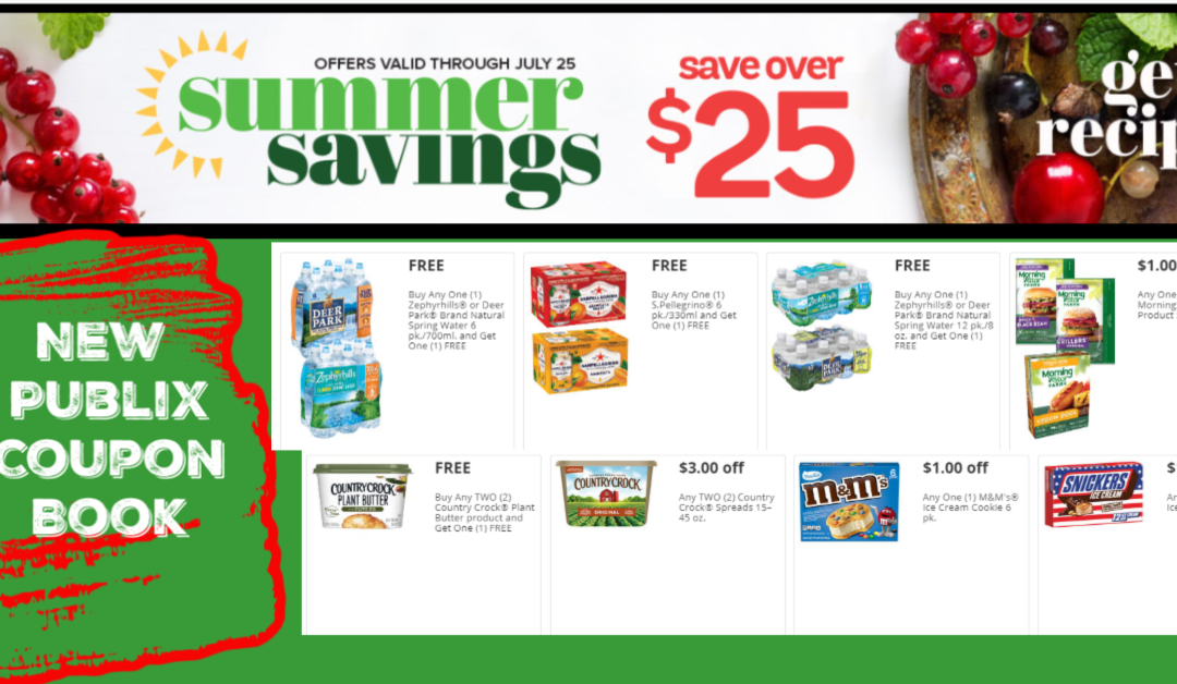 Summer Savings Publix Coupon Book 6/26/20 -7/25/20