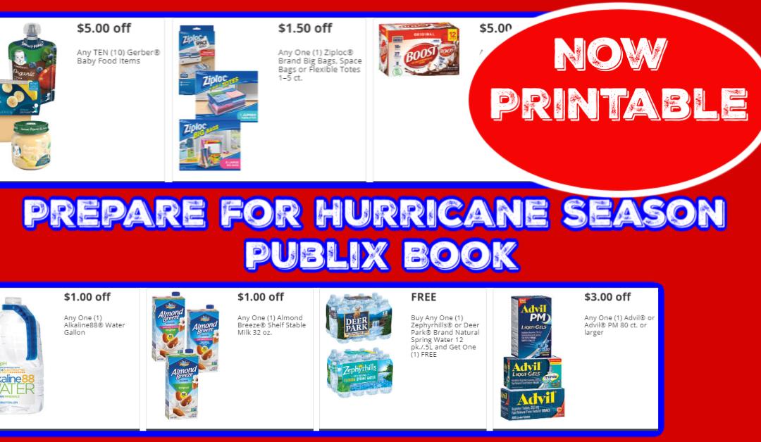 Prepare for Hurricane Season Publix Coupon Book