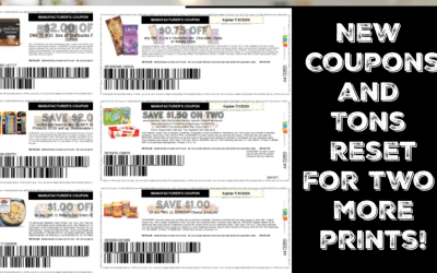 New Coupons and LOTS of Reset for TWO More Prints!