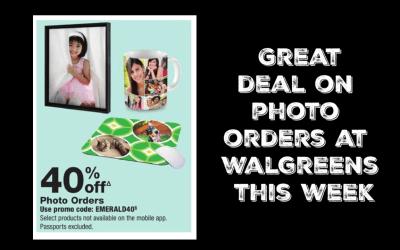 40% off Photo Orders at Walgreens!