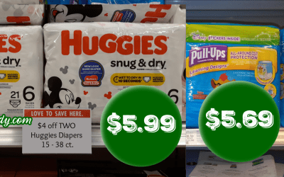 Huggies Diapers or Pull Ups as low as $5.69 at Publix