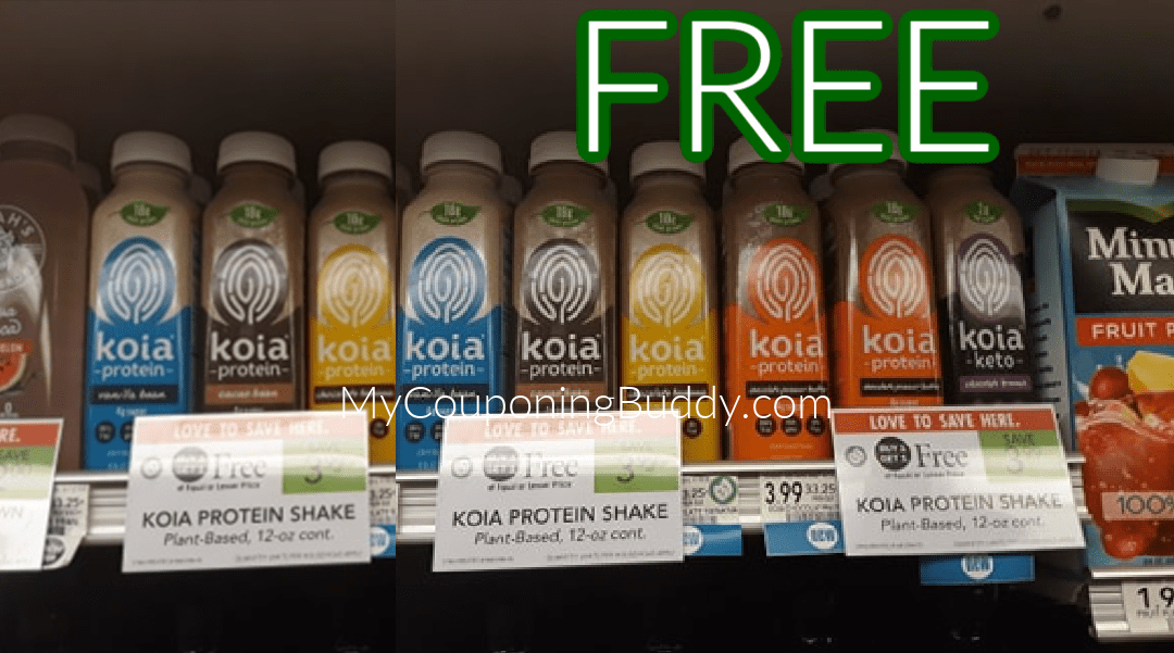 FREE Koia Protein Smoothies for True BOGO shoppers at Publix