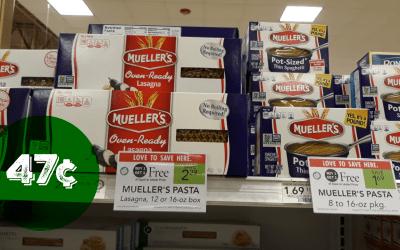 Mueller's Pasta 47¢  at Publix