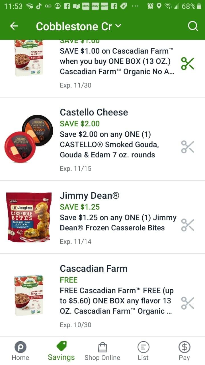 Cascadian Farm Publix Digital Coupon