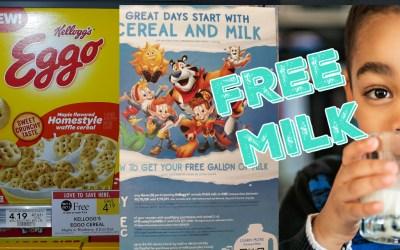 FREE Milk & BOGO Kellogg's Cereal!