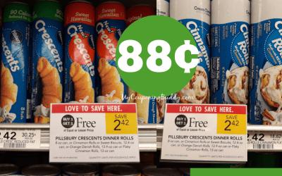 Pillsbury Crescent  & Cinnamon Rolls 88¢ at Publix!