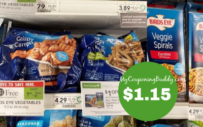 Bird's Eye Crispy or Spiral Veggies $1.15 at Publix