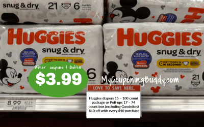 Huggies Snug & Dry Diapers $3.99 at Publix (after coupons & Ibotta)