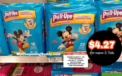 Huggies Pull Ups $4.27  after coupons & Ibotta @ Publix