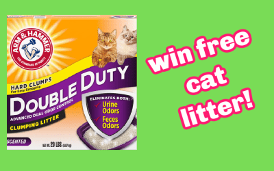 Win a Year's Supply of Arm & Hammer Cat Litter
