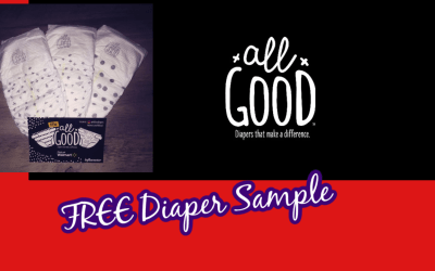 Available again! Sign up for a free sample of P&G All Good Diapers!