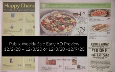Publix Weekly Sale Early AD Preview 12/2/20 – 12/8/20 or 12/3/20 -12/9/20