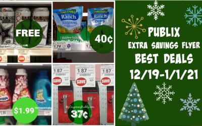 Publix Extra Savings Flyer  Best Deals 12/19-1/1/21
