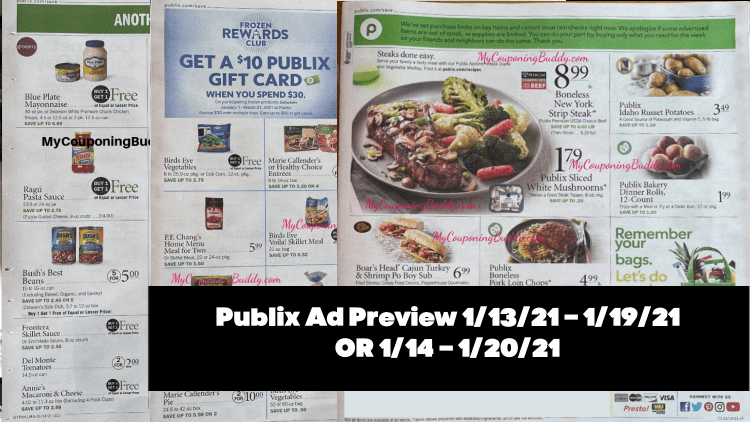 Publix Ad Preview 1/13/21 – 1/19/21 OR 1/14 – 1/20/21