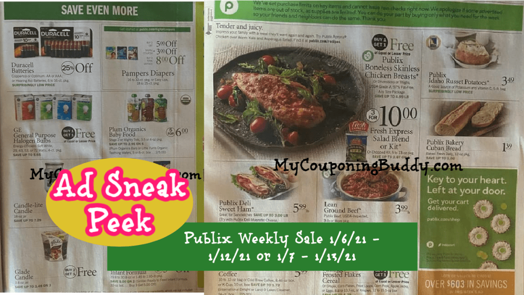 Publix Weekly Sale 1/6/21 - 1/12/21 or 1/7 - 1/13/21