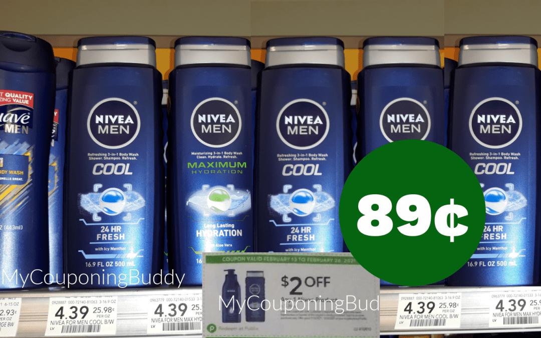 $2/1 Nivea Product 6.7 to 20 oz Extra Savings Flyer Publix Coupon 2/13/21-2/26/21