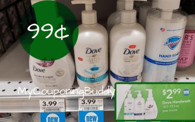 Dove Hand  Wash $1 at Publix