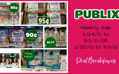 Best Deals ~ Publix Weekly Sale 2/24/21 to 3/2/21 OR  2/25/21 to 3/3/21