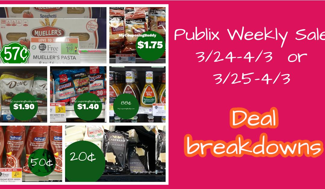 Best Deals ~ Publix Weekly Sale 3/24-4/3  or 3/25-4/3