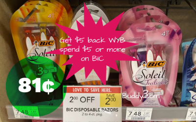 HOT DEAL on Bic Razors at Publix next week!