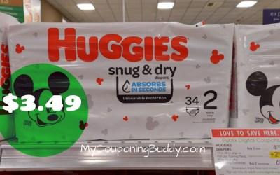 Huggies Diaper $3.49 at Publix