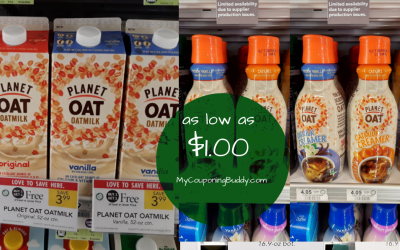 Planet Oat Milk or Creamer as low as $1 at Publix