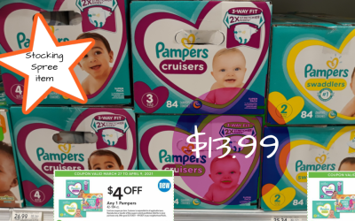 Pampers Diapers Box $13.99 + Stocking Spree