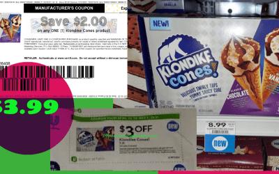 Klondike Cones 8pk $3.99 at Publix
