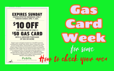 Gas Card coupon in SOME areas (how to check if its available at your store)
