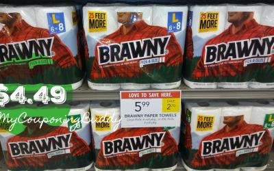 Brawny Paper Towels 6pk $4.49 at Publix