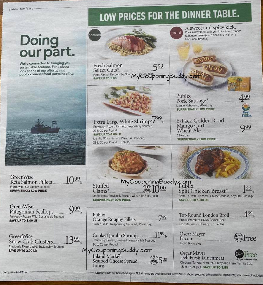 Early Preview Publix Weekly Sale Ad 8/4/21 to 8/10/21