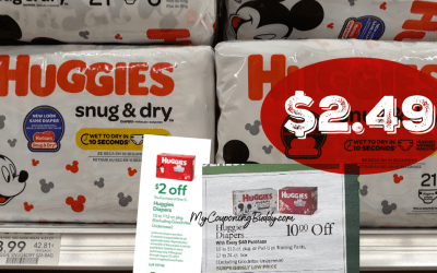 Huggies Diapers as low as $2.49 a bag at Publix