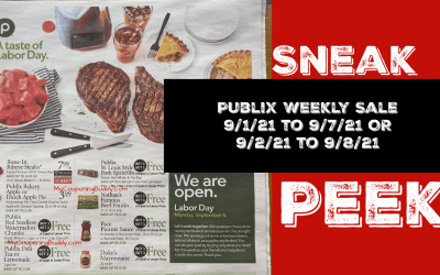 Early Ad Preview Publix Weekly Sale 9/1/21 to 9/7/21 OR 9/2/21 to 9/8/21