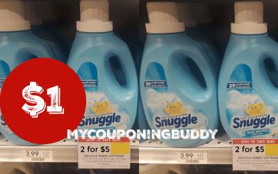 Snuggle Fabric Softener $1 at Publix