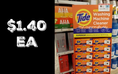 Tide Washing Machine Cleaner $1.40 at Publix