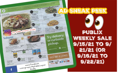 Early Ad Sneak Peek Publix Weekly Sale 9/15/21 to 9/ 21/21 (or 9/16/21 to 9/22/21)