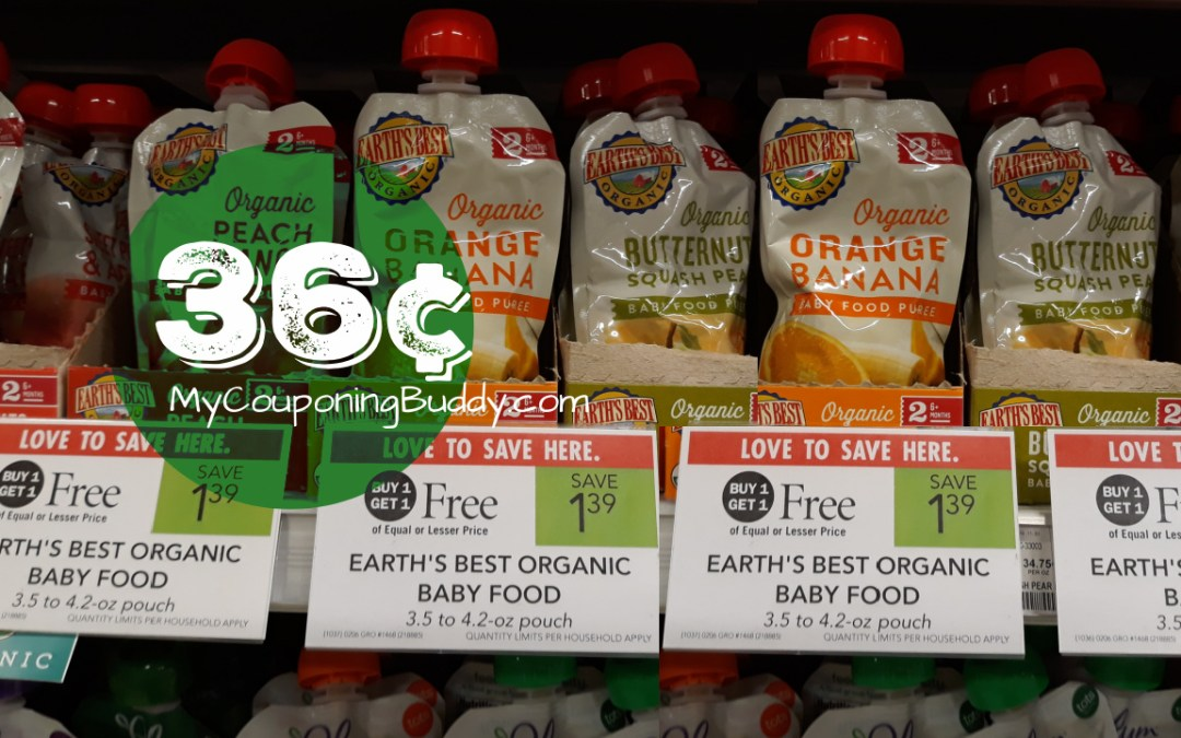 Earth's Best Baby Food  36¢ at Publix