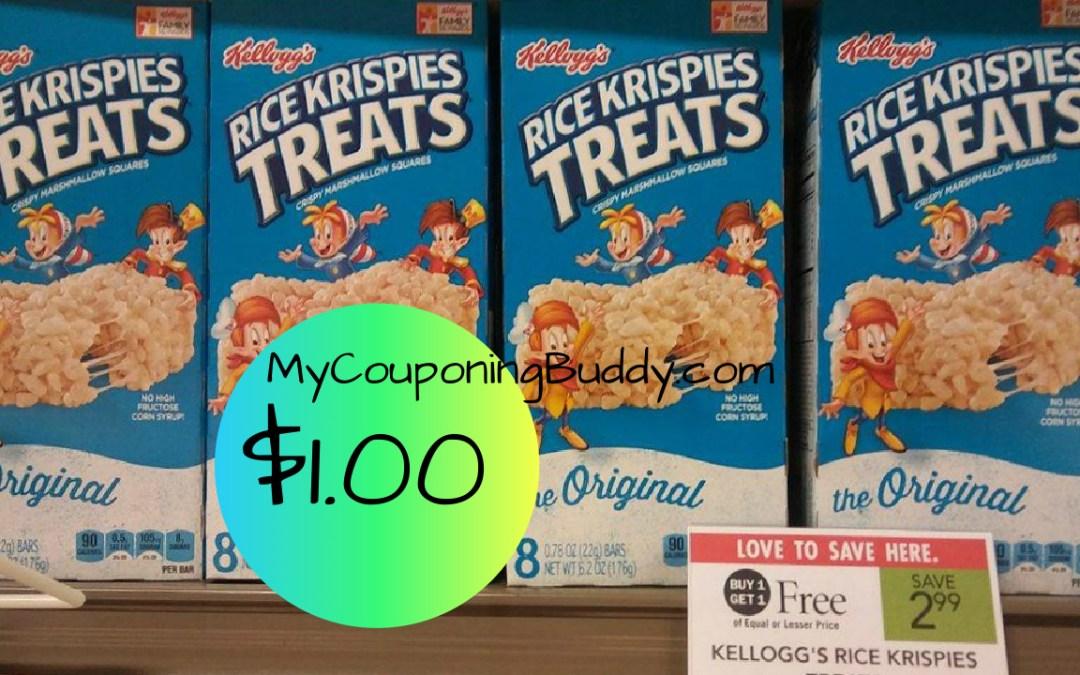 Rice Krispies Treats $1 at Publix