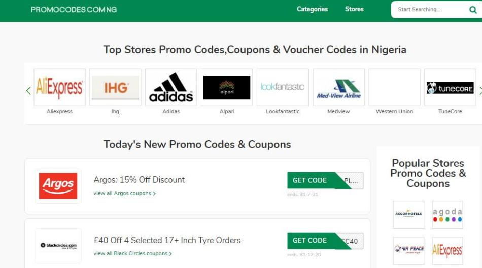 Promocodes.com.ng
